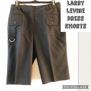 Cute Black Larry Levine Dress Shorts